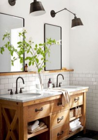 Wonderful Farmhouse Bathroom Decor Ideas 21