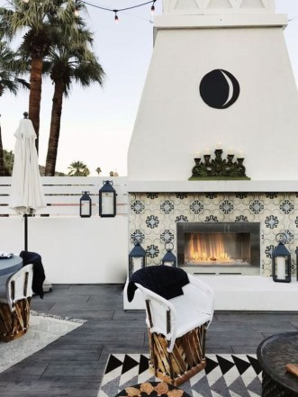 Wonderful Outdoor Fireplace Design Ideas 20
