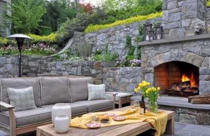 Wonderful Outdoor Fireplace Design Ideas 30