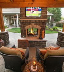 Wonderful Outdoor Fireplace Design Ideas 41