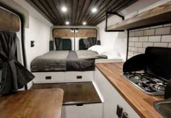 Wonderful Rv Camper Van Interior Decorating Ideas 12