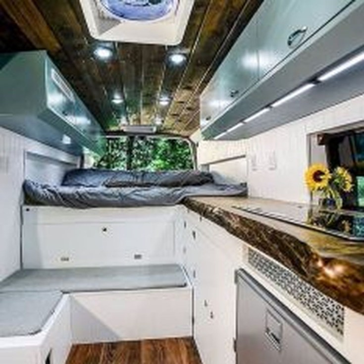 Wonderful Rv Camper Van Interior Decorating Ideas 45