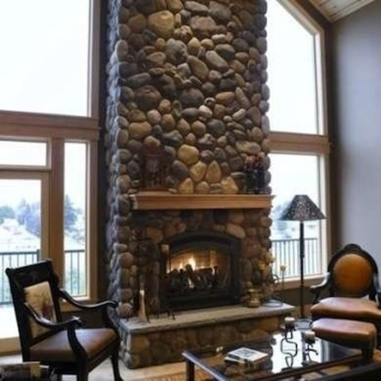 Beautiful Stone Veneer Wall Design Ideas 12