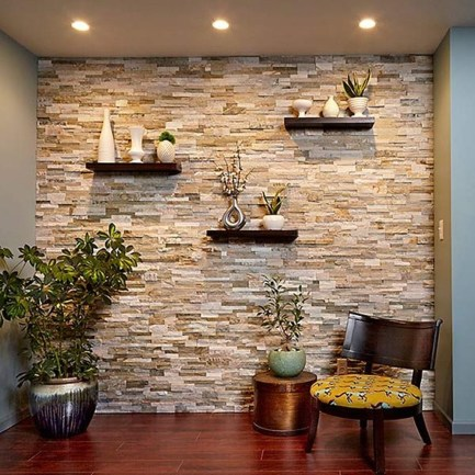 Beautiful Stone Veneer Wall Design Ideas 20