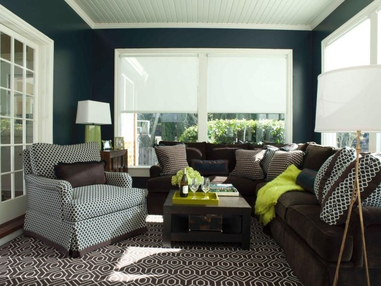 Charming Living Room Designs Ideas With Combinations Of Brown Color 04