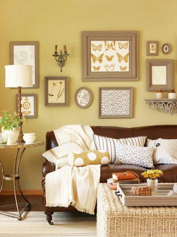 Charming Living Room Designs Ideas With Combinations Of Brown Color 10
