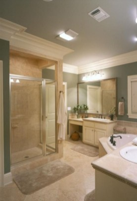 Elegant Farmhouse Bathroom Wall Color Ideas 27