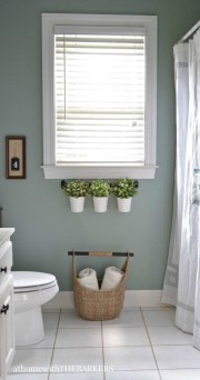 Elegant Farmhouse Bathroom Wall Color Ideas 38