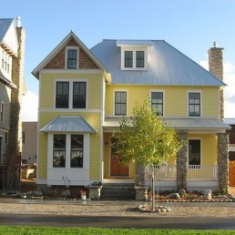 Flawless Exterior House Paint Ideas With Yellow Colors 04