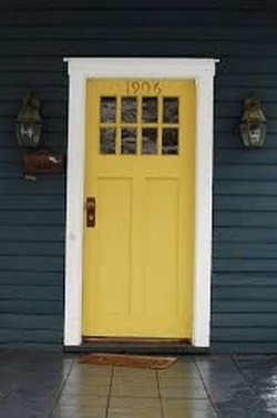 Flawless Exterior House Paint Ideas With Yellow Colors 26