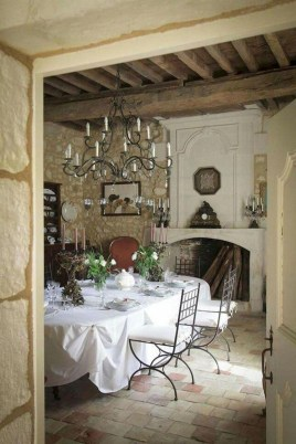 Stylish French Country Kitchen Decor Ideas 26