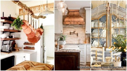 Stylish French Country Kitchen Decor Ideas 32