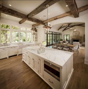 Stylish French Country Kitchen Decor Ideas 40