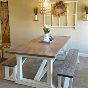 Adorable Farmhouse Tables Ideas For House 25