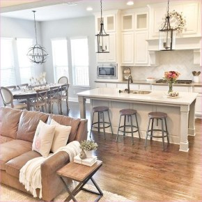 Attractive Kitchen Decorating Ideas With Farmhouse Style 38
