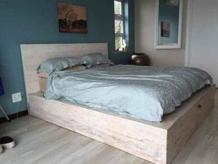 Best Wooden Platform Designs Ideas For Bed 41
