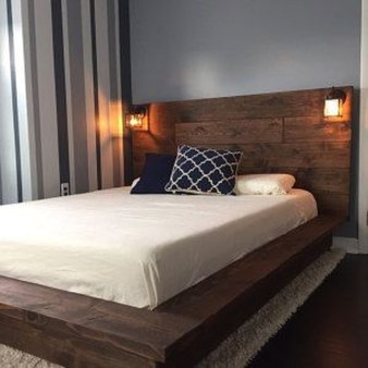 Best Wooden Platform Designs Ideas For Bed 42