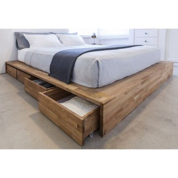 Best Wooden Platform Designs Ideas For Bed 52