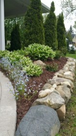 Brilliant Rock Garden Landscaping Ideas For Front Yard 54