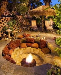 Creative Build Round Firepit Area Ideas For Summer Nights 15