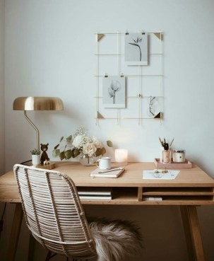 Lovely Small Home Office Ideas 52