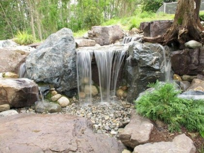 Modern Diy Garden Pond Waterfall Ideas For Backyard 02
