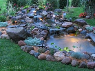 Modern Diy Garden Pond Waterfall Ideas For Backyard 08