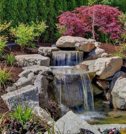 Modern Diy Garden Pond Waterfall Ideas For Backyard 21