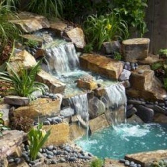 Modern Diy Garden Pond Waterfall Ideas For Backyard 47