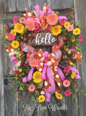 Beautiful Summer Wreath Design Ideas To Try Asap 18