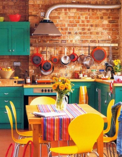 Cool Colorful Kitchen Decor Ideas For Summer 49