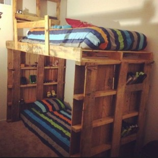Fancy Diy Ideas To Make Bed Place From Pallet Project 41
