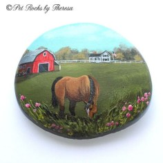 Inspiring Diy Painted Rocks Ideas With Animals Horse For Summer 17