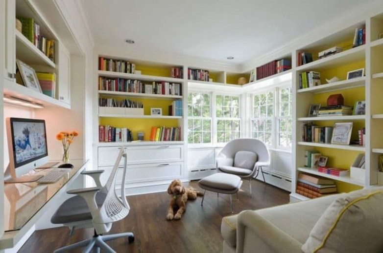 Magnificient Home Design Ideas With Library You Should Keep 01