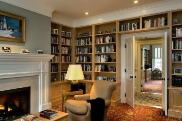 Magnificient Home Design Ideas With Library You Should Keep 13