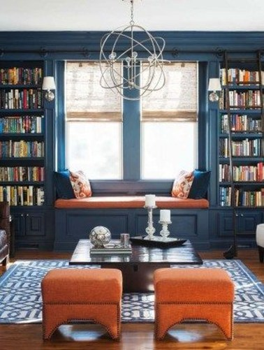 Magnificient Home Design Ideas With Library You Should Keep 15