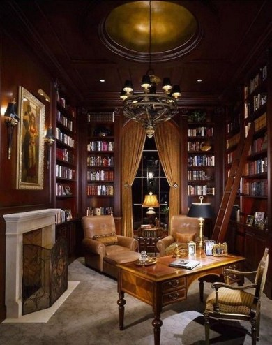 Magnificient Home Design Ideas With Library You Should Keep 44
