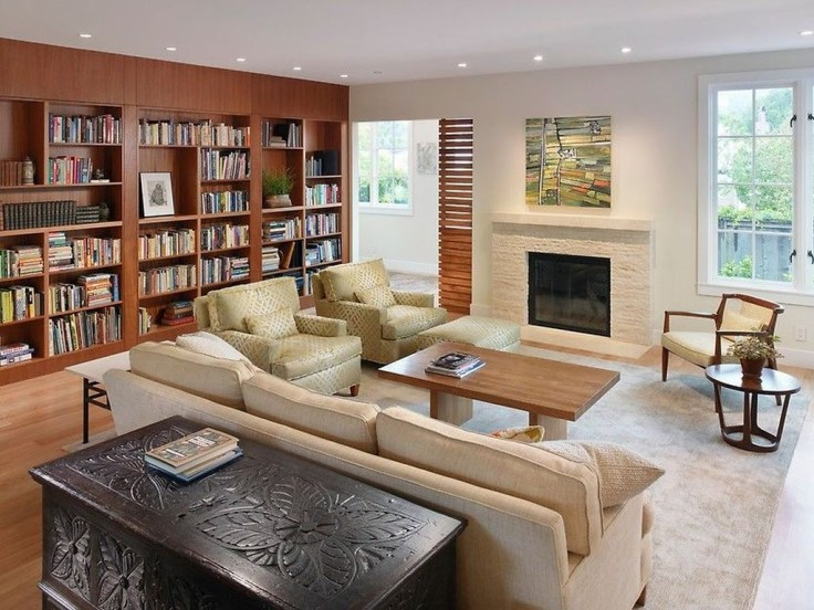 Magnificient Home Design Ideas With Library You Should Keep 48