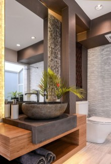 Rustic Bathroom Design Ideas With Wood For Home 22