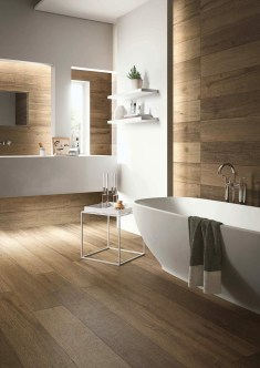 Rustic Bathroom Design Ideas With Wood For Home 47