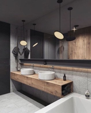 Rustic Bathroom Design Ideas With Wood For Home 54