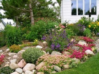 Cozy Rock Garden Landscaping Ideas For Make Your Yard Beautiful 21