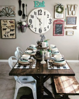 Relaxing Farmhouse Dining Room Design Ideas To Try 15