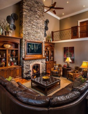 Superb Warm Family Room Design Ideas For This Winter 32