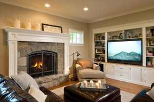 Superb Warm Family Room Design Ideas For This Winter 36
