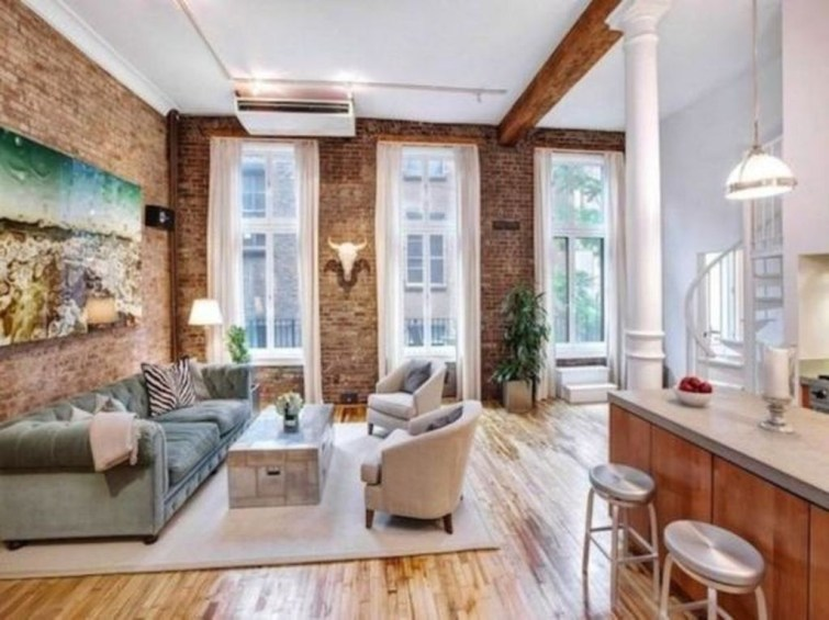 Delicate Exposed Brick Wall Ideas For Interior Home Design 46