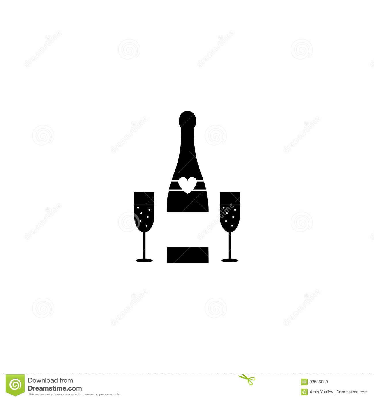 verre à vin solide