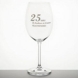 verre à vin sérigraphié