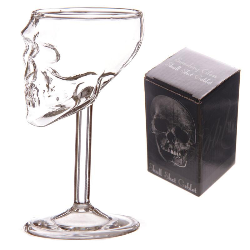verre à vin tête de mort