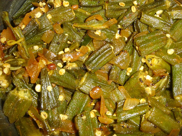 Sweet and Sour Okra Ladies Finger Fry